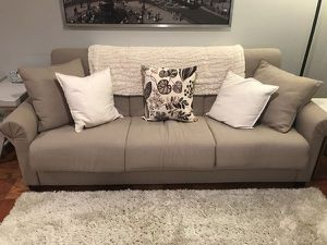 Sleeper Sofa / Sofa Bed / Pull-Out Couch / Beige Tan for Sale in Potomac, MD