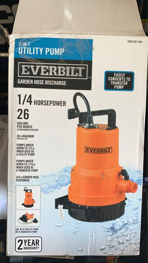 Utility Water Pumps- Never Used- Price Per Pump for Sale in Glendale, AZ