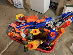 Big Tub of Nerf Guns for Sale in Union City, CA