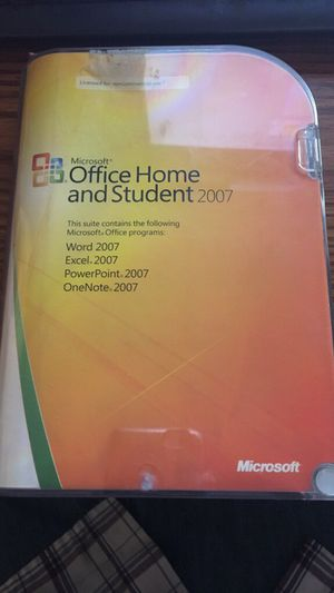 Microsoft Office Home and Student 2007 for Sale in Santa Maria, CA