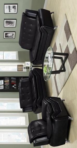 [SPECIAL] Tilda Black 3-Piece Living Room Set. Sofa and loveseat and chair for Sale in Houston, TX