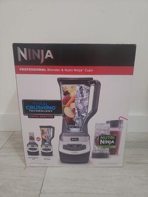 Ninja Professional Countertop Blender 1100 Watts, 3 speeds pulse & Single serve for Sale in Fort Lauderdale, FL
