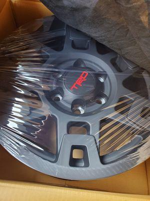 Toyota Trd Pro OEM wheels/rims 17x7. Black matte original Trd Pro rims( firm not negotiable) for Sale in Fort Lauderdale, FL