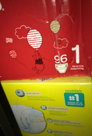 Huggies & Pampers brand Size 1 For infant. Brand new never opened for Sale in San Jose, CA