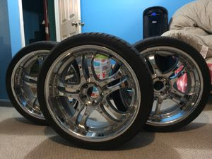 4 nice rims with like new tires for Sale in Rockville, MD