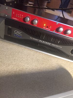 QSC PLX1602 1600 watt power amplifier 2 channel xlr or 1/4 inputs amp for Sale in Gahanna, OH