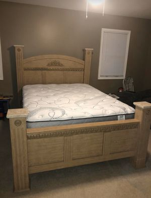 Queen Bed with frame, headboard and footboard, no mattress for Sale in Allentown, PA