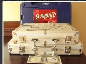 Travel scrabble and 2 poker set in case for Sale in Silver Spring, MD