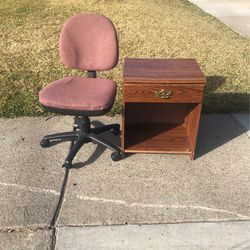 Free Chair And Cabinet for Sale in Sacramento,  CA