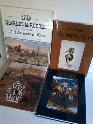 4 WESTERN COWBOY Vintage Books RUSSELL REMINGTON LOVELL for Sale in Las Vegas, NV