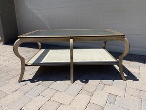 Iron Glass and Stone LARGE Coffee Table HIGH END for Sale in Scottsdale, AZ