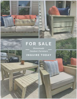 Outdoor Furniture - Couch - Chair - Table - Bench for Sale in Naperville, IL