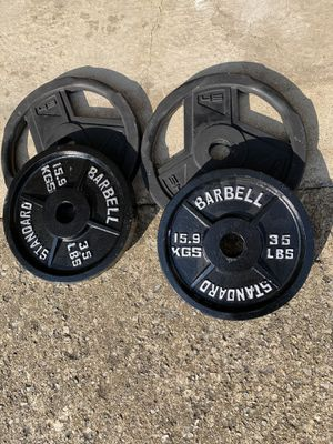160 Pounds of Olympic Weight Plates for Sale in Columbus, OH
