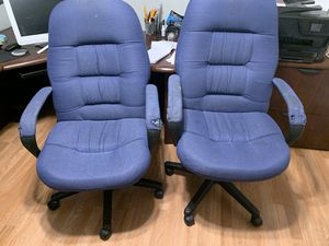 Two matching office chairs on wheels both for $10 for Sale in Lincoln, CA