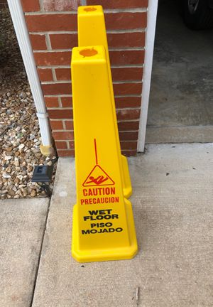 (2) Four sided Wet Floor Caution Warning Cone for Sale in Waynesville, MO
