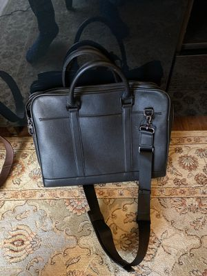 Zara Black Leather Briefcase/Messenger Bag for Sale in Vienna, VA