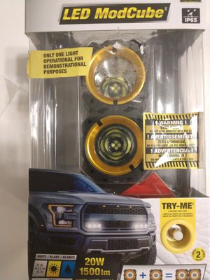 Additional LED headlights. Alpena LED ModCube lights. 1500 lumens, 20W, IP65. I have two boxes. 4 each. Price for one pack. for Sale in Plantation, FL