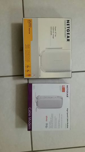 Modem and router Netgear for Sale in Jupiter, FL