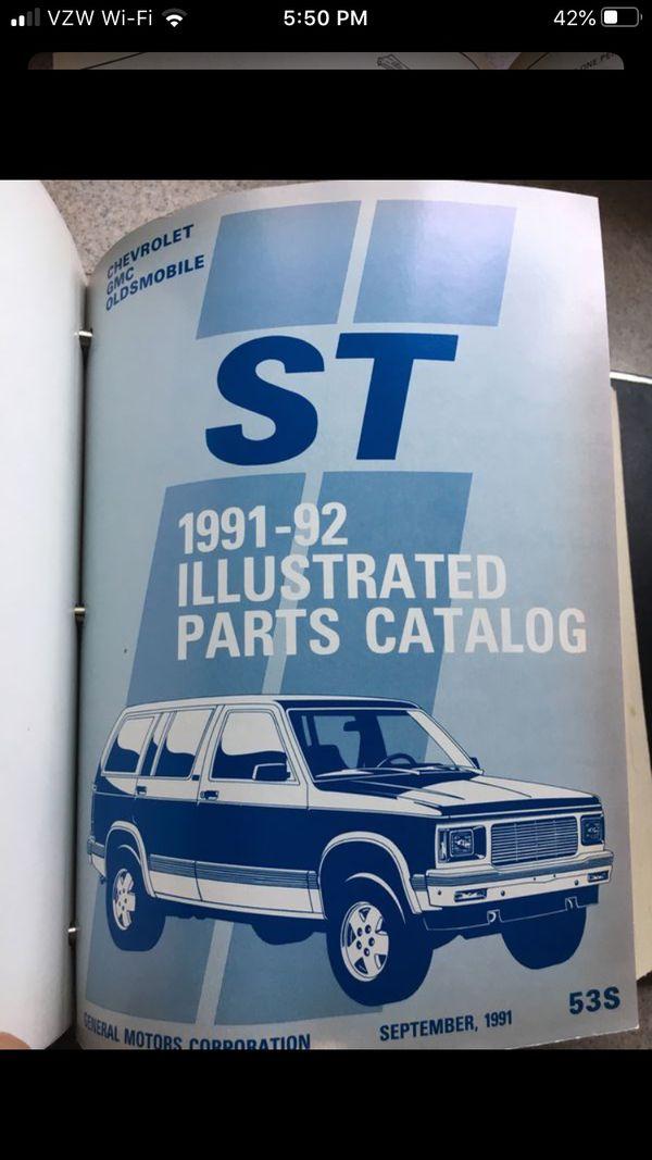1982-90 Chevy GMC S10 Jimmy Pickup GM Dealer Parts Catalog