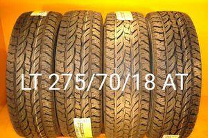 4 New tires LT 275/70/18 AT llantas nuevas for Sale in Chula Vista, CA