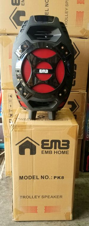 """1000 watts. 8"""" woofer speaker. Bluetooth. Fm radio. USB connection. LED lights. Wireless microphone. Stand included. Brand New. for Sale in Virginia Gardens, FL"""