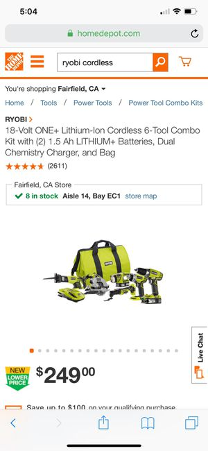 Ryobi tool set for Sale in Fairfield, CA