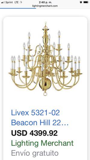 Brass chandelier 28 lights for Sale in Manassas Park, VA