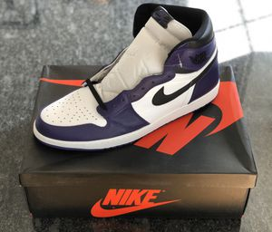 Jordan 1 Court Purple size 18 for Sale in Manchester, NH
