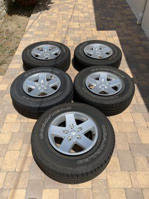 Jeep Wrangler Sport Wheels Great Condition for Sale in Burbank, CA