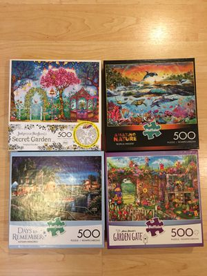 8 Buffalo Games Puzzles 500 pcs for Sale in Mount Vernon, WA