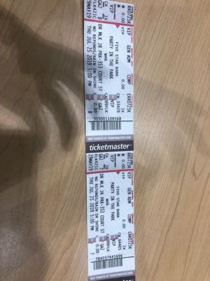 2 VIP TICKETS FOR WAR CONCERT for Sale in Buffalo, NY