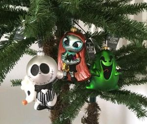 Nightmare Before Christmas 2017 Jack Skellington Zero Sally & Oogie Boogie Glass Ornament Set for Sale in Spring Valley, CA