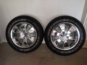 Custom wheels and tires for Sale in Lubbock, TX