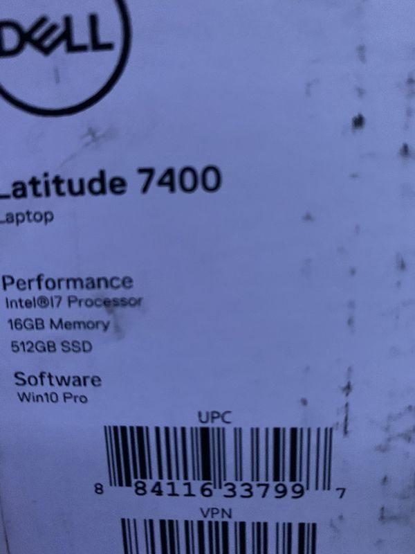 Dell latitude 7400 2 in 1 laptop computer