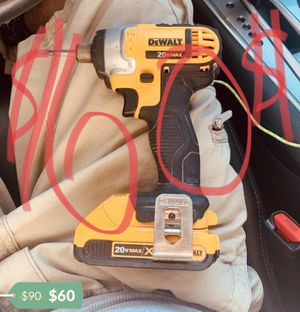 Dewalt 20v max impact drill only 60 bucks with battery for Sale in Burbank, CA