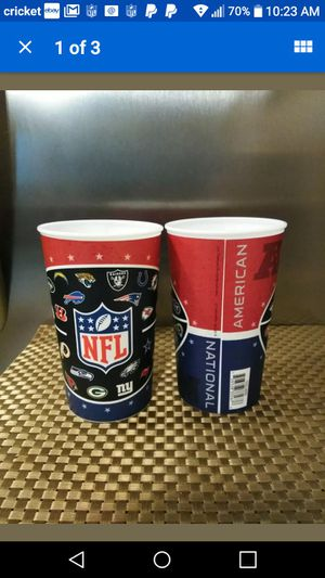 New 22oz NFL Plastic team spirit cups for Sale in Little Rock, AR