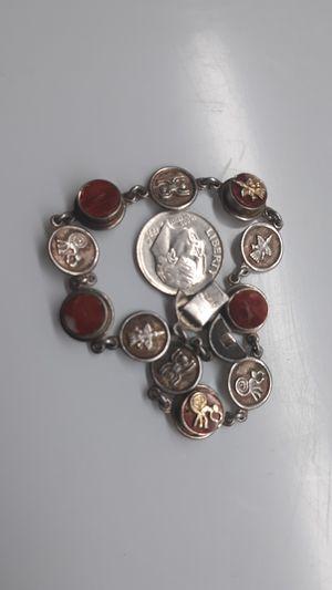 "950 Sterling Silver 8"" Bracelet Ancient Design SPIDERS MONKEYS BIRDS for Sale in Phoenix, AZ"