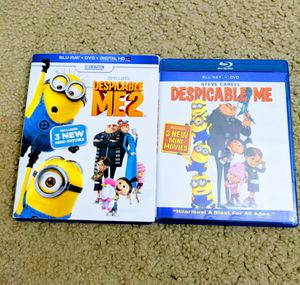 Despicable Me 1 and 2 (Blu Ray + DVD) for Sale in Sunnyvale, CA