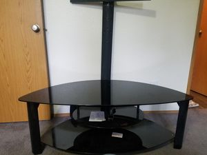 Nice glass t.v stand 55 obo for Sale in Vancouver, WA