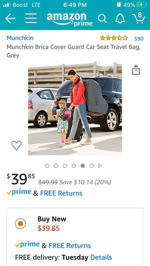 Car seat cover travel backpack for Sale in Calexico, CA