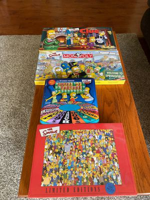 Simpson's game and puzzle collection for Sale in Lakeside, CA