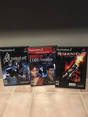 Resident evil games for PlayStation 2 for Sale in Lynnwood, WA
