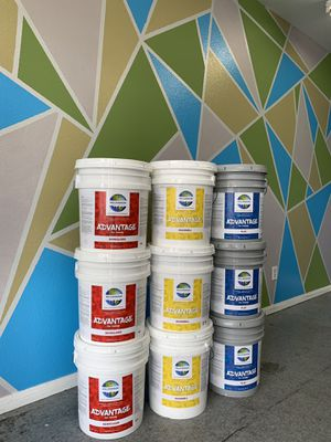 Flat, Eggshell, Semigloss acrylic paint 5gal buckets. for Sale in Torrance, CA