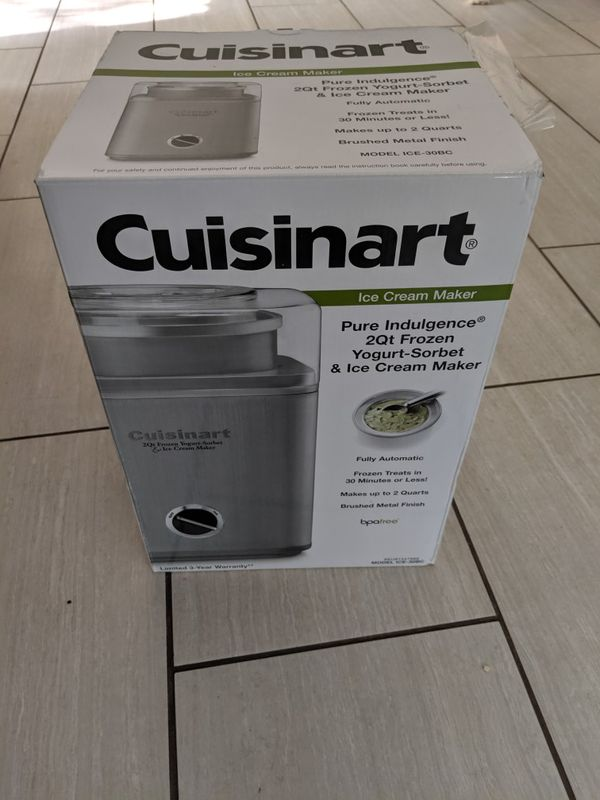 Cuisanart ice cream maker - new
