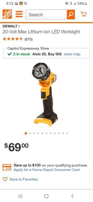 Dewalt 20v max light for Sale in San Jose, CA