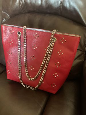 Women shoulder handbag tote red new never used for Sale in Gaithersburg, MD