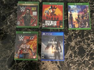 Video Games - Red Dead II, Kingdom Hearts 3, WWE, Mass Effect (PS4) for Sale in Homestead, FL