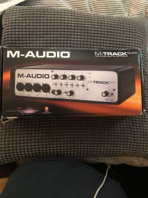 M-Audio M-Track Quad (Four-Channel Audio and MIDI USB Interface) with Pro Tools Express for Sale in Oakland, CA