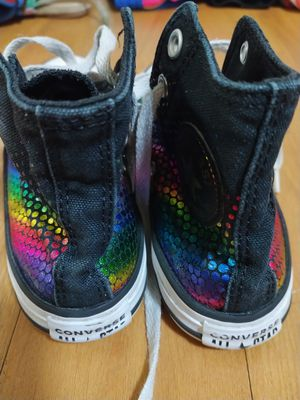 Rainbow all Star Converse girls size 12 for Sale in New York, NY