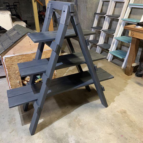 A Frame Ladder Shelf
